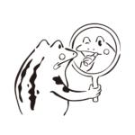 化粧するカエル