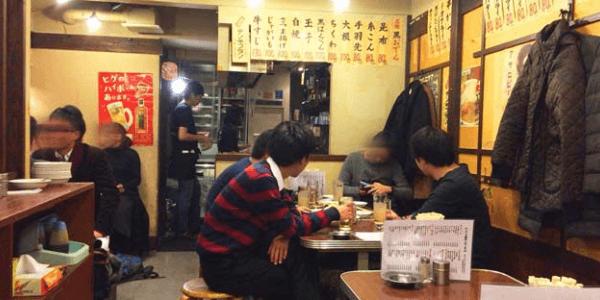 豊島市東池袋の立ち飲み屋「かぶら屋3号店」の内観